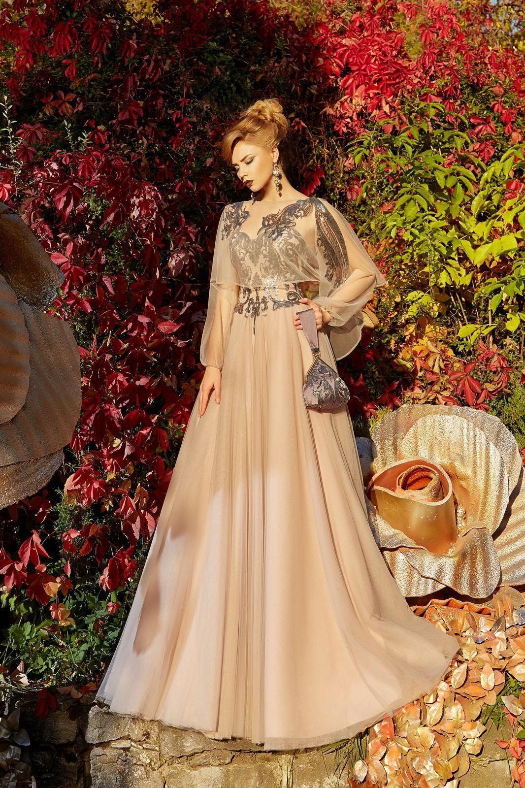 Evening Dress Lorange Tan | GOweds